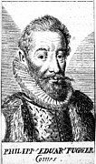 Financier Prints - PHILIPP EDUARD FUGGER (1546-1618). German financier. Line engraving, 17th century Print by Granger