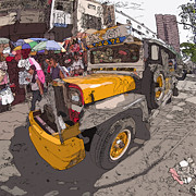 Rolf Bertram Art - Philippines 1261 Jeepney by Rolf Bertram