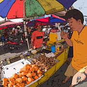 Rolf Bertram Art - Philippines 1299 Street Food by Rolf Bertram