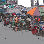Rolf Bertram Art - Philippines 708 Market by Rolf Bertram