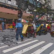 Philippines 906 Crosswalk Print by Rolf Bertram