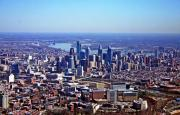 Aerial Photo - Philladelphia 2010 by Duncan Pearson