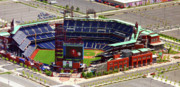 Aerial Acrylic Prints - Phillies Citizens Bank Park Philadelphia by Duncan Pearson