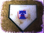 Phillies Framed Prints - Phillies Home Plate Framed Print by Bill Cannon