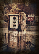 Gas Pump Posters - Phillips 66 Poster by Kathy Jennings