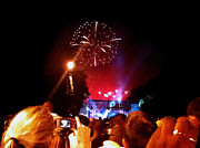 Benjamin Franklin Parkway Photos - Philly Fireworks by Daniela Kriva