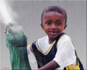 Missing Child Photo Prints - Philly Fountain Kid Print by Brian Wallace