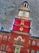 Declaration Of Independence Prints - Philly Independence Hall2 Print by Meghan Flatley