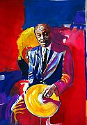 Icon Painting Prints - Philly Jo Jones - Jazz Drummer Print by David Lloyd Glover