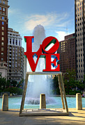 Love Sculpture Framed Prints - Philly love Framed Print by Paul Ward