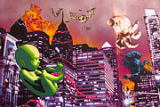 Spray Paint Art Paintings - Philly Rapture by Bobby Zeik