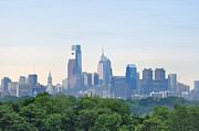 Philadelphia Skyline Digital Art Prints - Philly Skyline Print by Bill Cannon