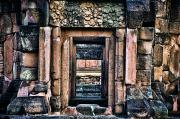 Blue Brick Prints - Phimai Khmer Doorway Print by Ray Laskowitz - Printscapes