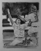 Baseball. Philadelphia Phillies Drawings - Phinally by Paul Autodore