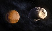 Phobos Prints - Phobos And Mars, Artwork Print by Andrzej Wojcicki