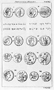 Coins Art - Phoenician Coins And Writing by Middle Temple Library
