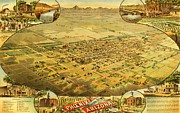 Large Decorative Framed Prints - Phoenix Arizona Territory Framed Print by Pg Reproductions
