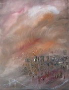 Storms Painting Originals - Phoenix Haboob by Sharon York