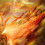 Orange Digital Art Originals - Phoenix by Michael Durst