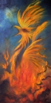 Mythology Paintings - Phoenix Rising 1 by Marina Petro