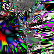 Fractal Geometry Digital Art - Phoenix Rising . Square . S3.S9 by Wingsdomain Art and Photography