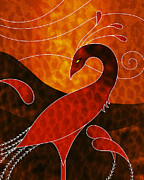 Digital Mixed Media Prints - Phoenix  Print by Robert Ball