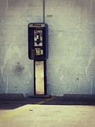 Retro Phone Photos - Phone Booth by Angela Wright