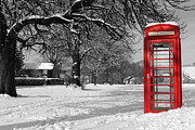 Call Box Posters - Phone Box on the Village Green Poster by Will Corder