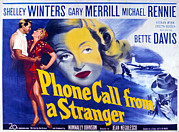 1950s Poster Art Photo Prints - Phone Call From A Stranger, Bette Print by Everett