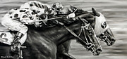 Thoroughbred Race Paintings - Photo Finish by Thomas Allen Pauly