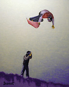 Snowboarding Paintings - Photo Moment by Matthew Stennett