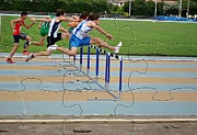 Sport Photography Originals - Photo Puzzle Of Obstacle Race by John Vito Figorito
