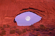 Formation Prints - Photographer At Window At Arches National Park Print by Grant Faint