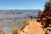 South Kaibab Trail Prints - Photographer on the South Kaibab Traill Print by Julie Niemela