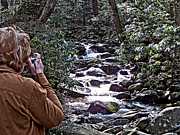 Tennessee Landmark Prints - Photographing a Quiet Stream Print by Jim Finch