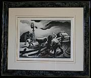 Thomas Hart Benton - Photographing The Bull...