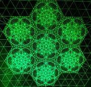 Pi Drawings - Photon Interference Fractal by Jason Padgett