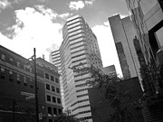 Montreal Buildings Prints - Photos of Montreal Mansfield St Print by Reb Frost
