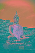 Buddhism Sculpture Prints - Photos Print by Thosaporn Wintachai