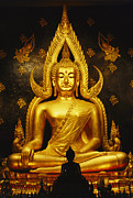 Religious Characters And Scenes Framed Prints - Phra Phuttha Chinnarat Buddha Framed Print by Martin Gray