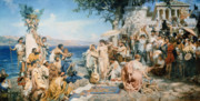 Henryk Paintings - Phryne at the Festival of Poseidon in Eleusin by Henryk Siemieradzki