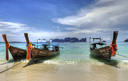 Long Tail Prints - Phuket Koh Phi Phi Island Print by Bob Christopher
