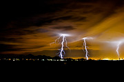 Kenny Jalet Acrylic Prints - PHX night lightning #1 Acrylic Print by Kenny Jalet