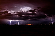 Kenny Jalet Acrylic Prints - Phx Night Lightning 11 Acrylic Print by Kenny Jalet