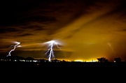 Kenny Jalet Acrylic Prints - Phx Night Lightning 2 Acrylic Print by Kenny Jalet