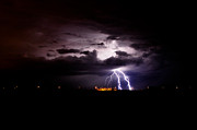 Kenny Jalet Acrylic Prints - Phx Night Lightning 5 Acrylic Print by Kenny Jalet