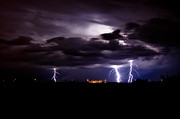 Kenny Jalet Acrylic Prints - Phx Night Lightning 9 Acrylic Print by Kenny Jalet