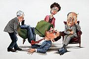 Caricature Framed Prints - Phychiatry Issues Framed Print by Denny Bond
