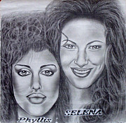 Flyers Drawings - PHYLISS and SELENA by Rick Hill