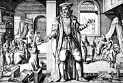 Bandages Prints - Physician As Man, 17th Century Print by Science Source